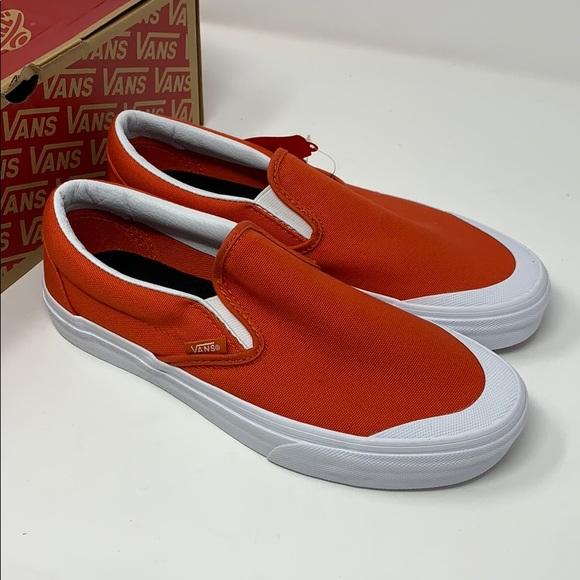 0e83dd33d613c5 VANS classic slip ons pumpkin orange size 7 8.5